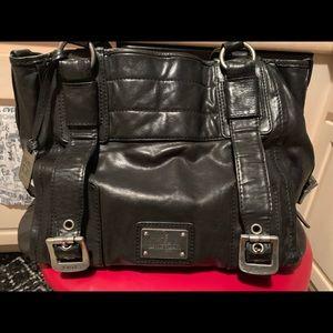 Black FRYE tote satchel